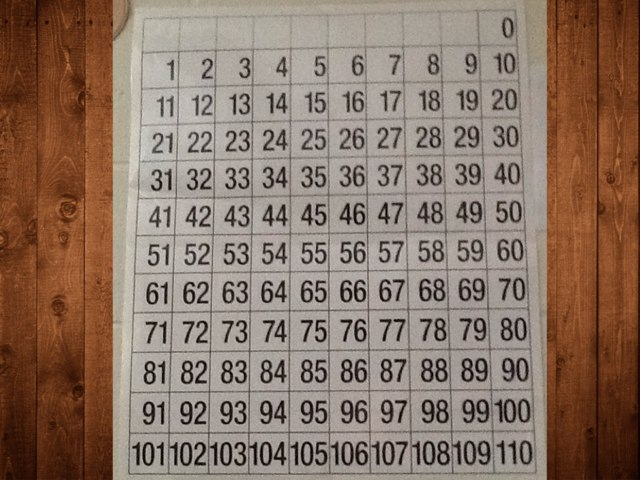 Number Grid Counting by Kathy Donovan