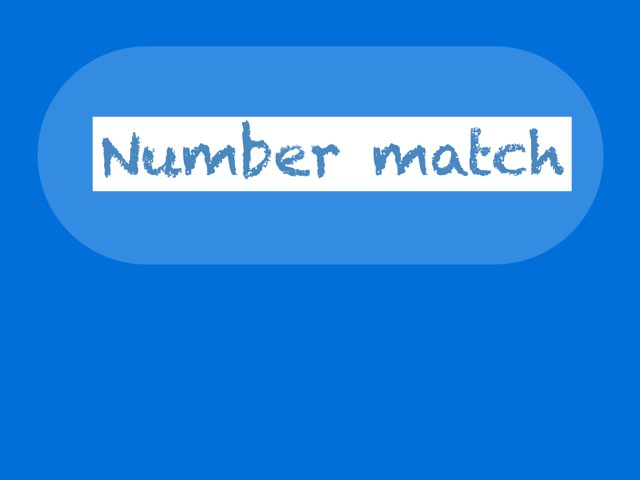 Number Match by Rhonda blosser