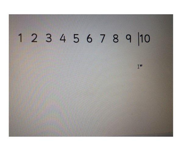 Number Order To 10 by Deborah Fletcher