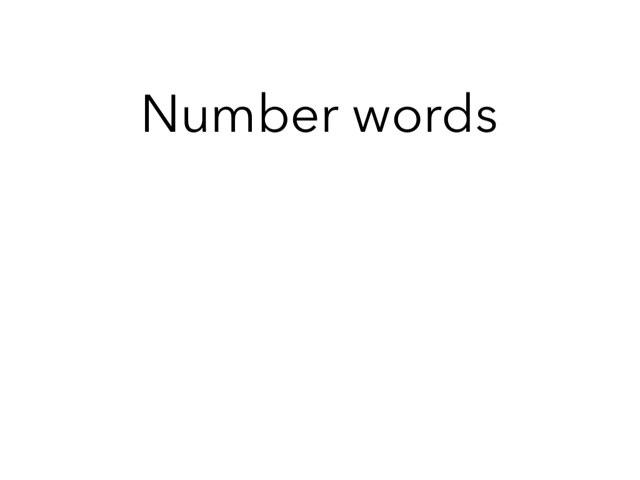 Number Words 1-5 by Evet Bresseas