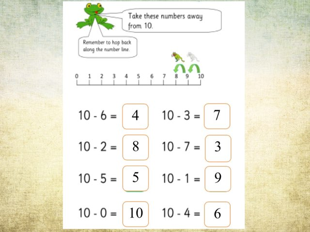 Number line Subtraction by Deborah Fletcher