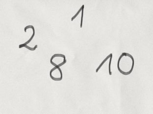 Numbers 1-10 by Malwina Przyborowicz