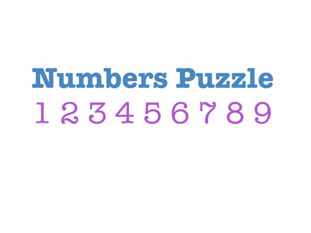 Numbers Puzzle 1-10 by Yogev Shelly
