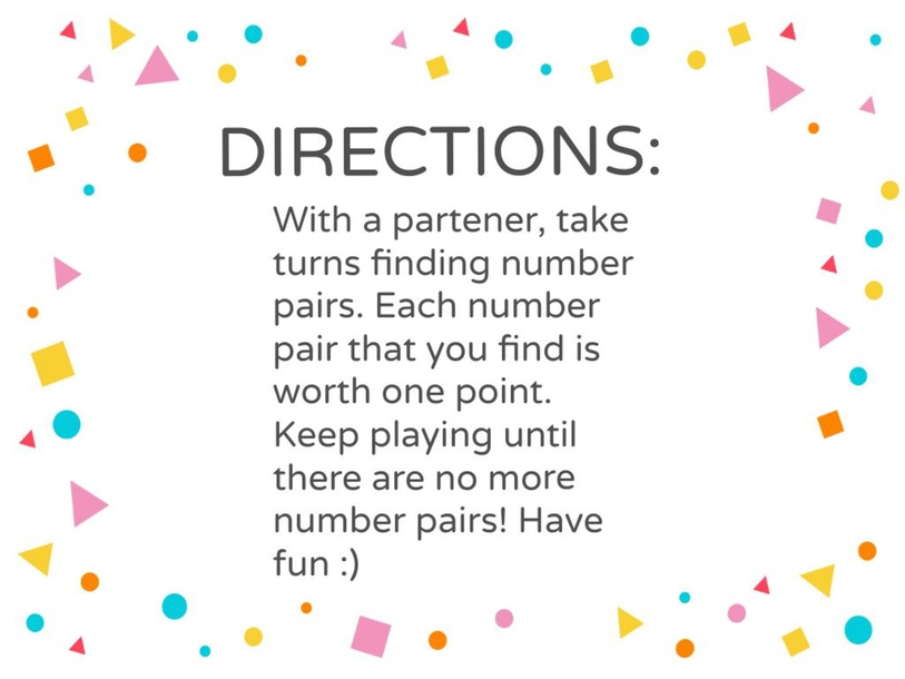 Numbers 1-10 Matching game  by Sarah Coffman