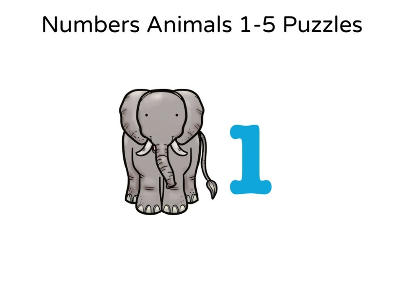 Numbers Animals 1-5 Puzzles by Jungwon Choi
