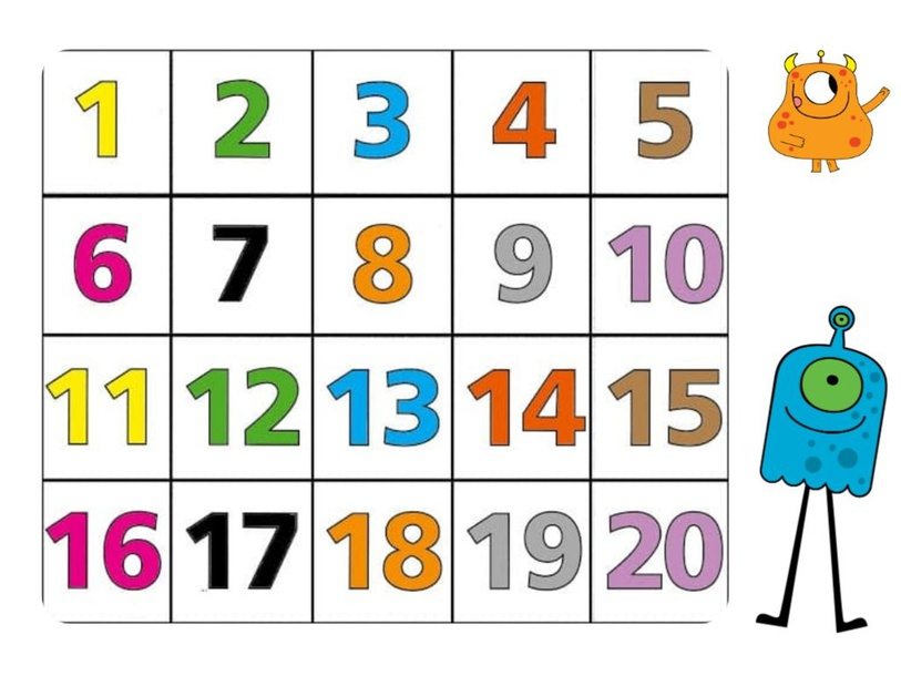 Numbers from 1 to 20 by angie Jiménez