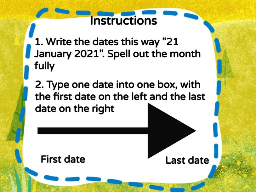 Numeracy - List Dates in a Date Range by metta epp