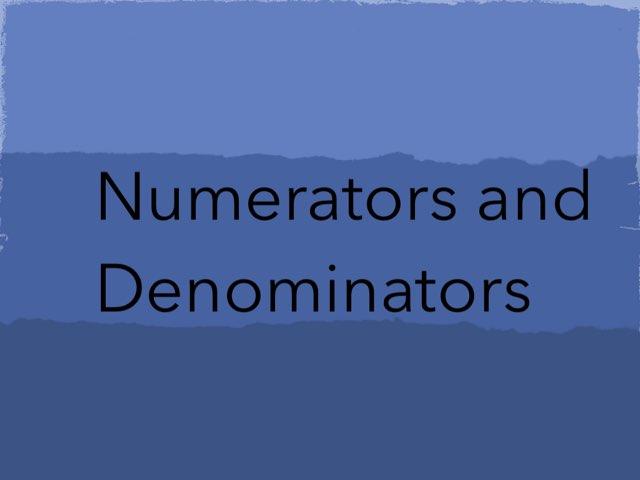 Numerators And Denominators by Sarah Mills