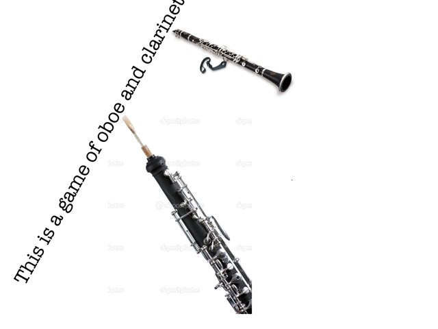 Oboe And Clarinet by Chris Fox