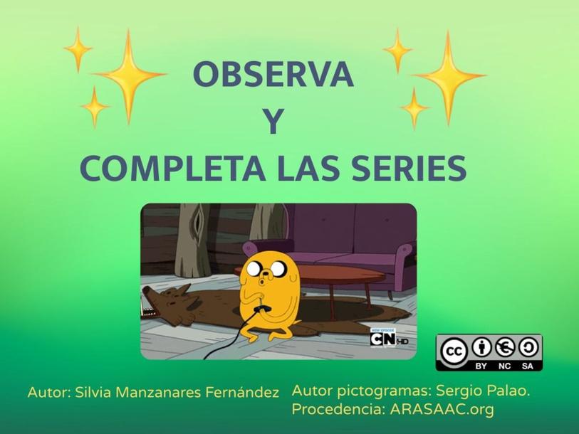 Observa y completa las series by Silvia Manzanares Fernández