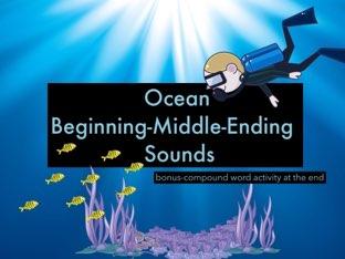 #Ocean Beginning, Middle, Ending Sounds by Jennifer Sanders