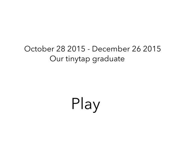 October 28 - December 26 2015 Test by Sean Fuentes Sandoy