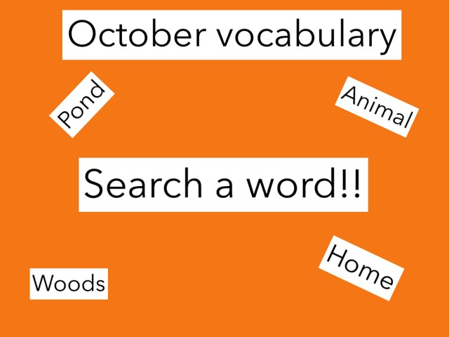 October Vocabulary Search A Word! by Julie Gittoes-Henry