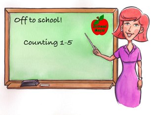 Off To School Lessons: Counting 1-5 by Emilie Melnyk