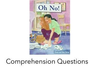 Oh No! Comprehension LLI HCPSS  by Chanel Sanchez