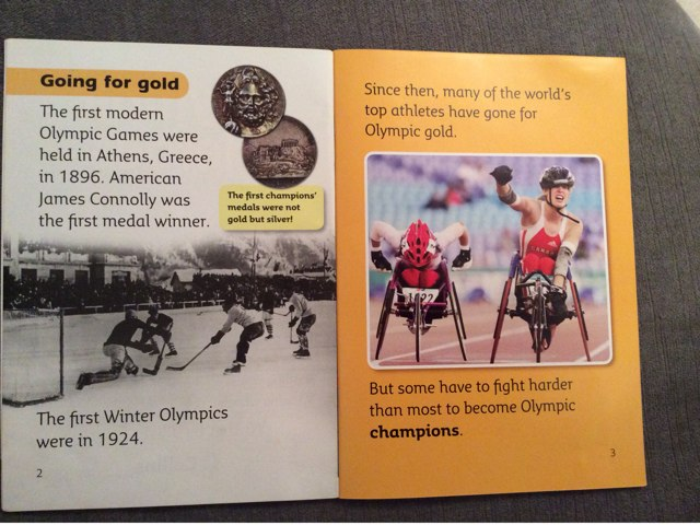 Olympic Heroes Green Book Band Comprehension  by Nat Hat