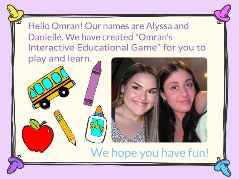 Omran's Interactive Educational Game by Danielle Sullivan