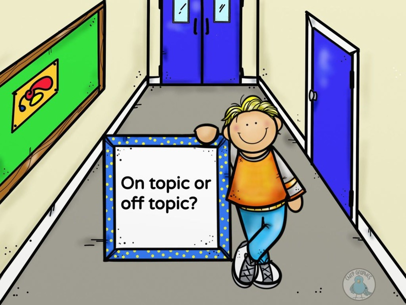 On topic vs. Off topic by Natalie Carr