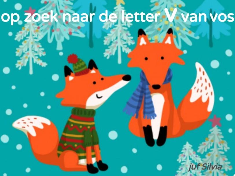 Op zoek naar de letter V van vos groep 1/2 by Silvia Broekmans