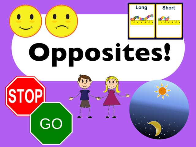 Opposites ID Game by Erica Lynn