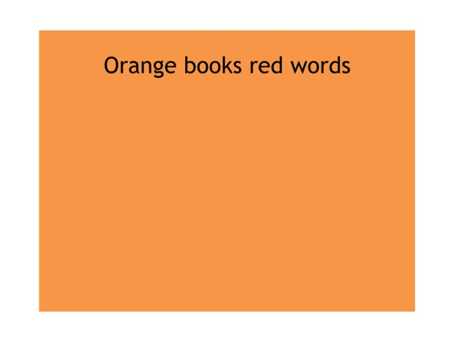 Orange Books Red Words by Heather Cooper