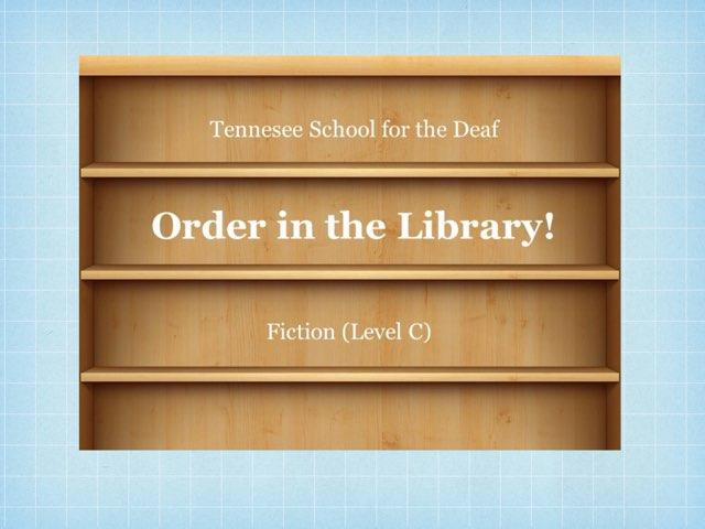 Order In The Library -- C(2) by TSD Library