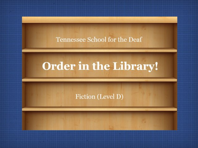 Order In The Library (D) by TSD Library