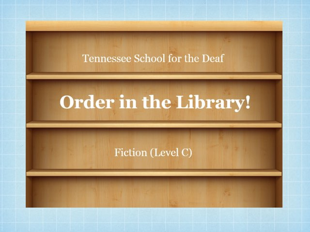 Order In The Library (C) by TSD Library