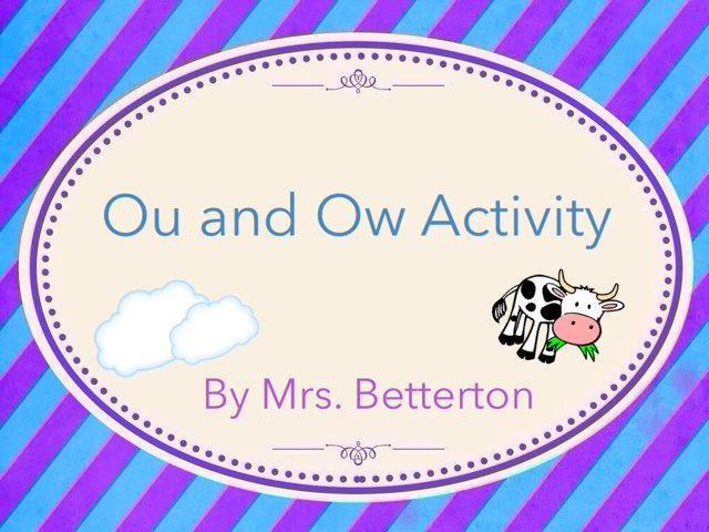 Ou And Ow Activity by Lauren Betterton