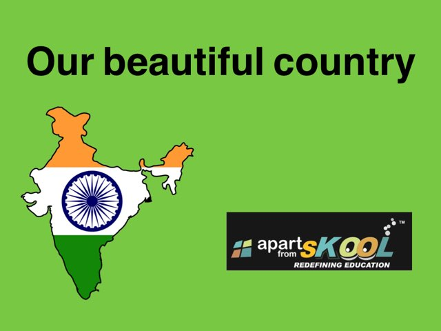 Our Beautiful Country by TinyTap creator