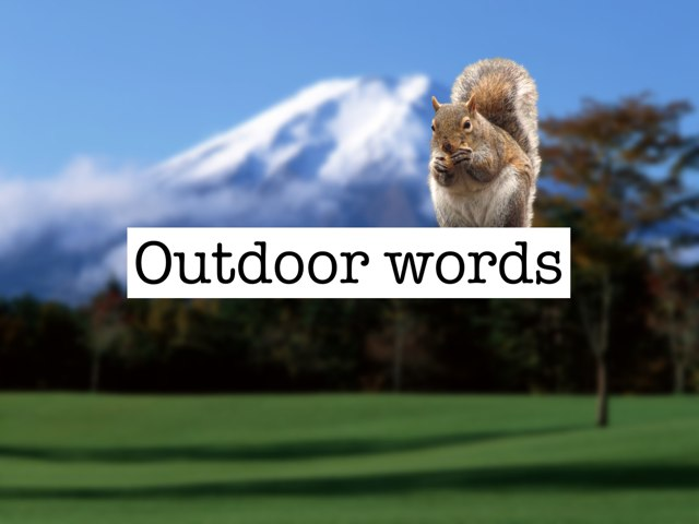 Outdoor Words (#PicWords) by Yogev Shelly