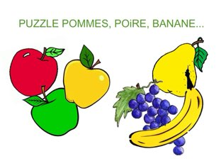 PUZZLE DES FRUITS. by Valerie Escalpade