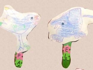 Palitos de pre- lectura (animales) by Lorena Zurbano
