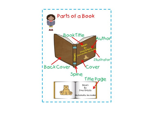 Parts Of A Book by Frazzled Teacher