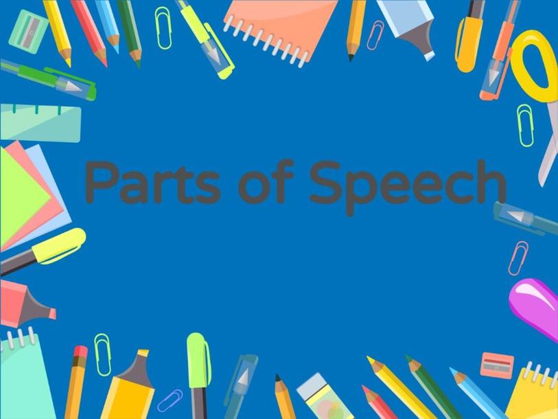 Parts of Speech by Reshma Goregaonkar