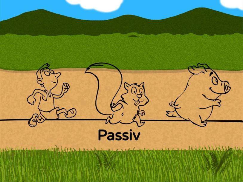 Passiv: Wer wird von wem gejagt ? by M. Stucki