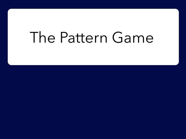 Pattern Game by Macon Andaya