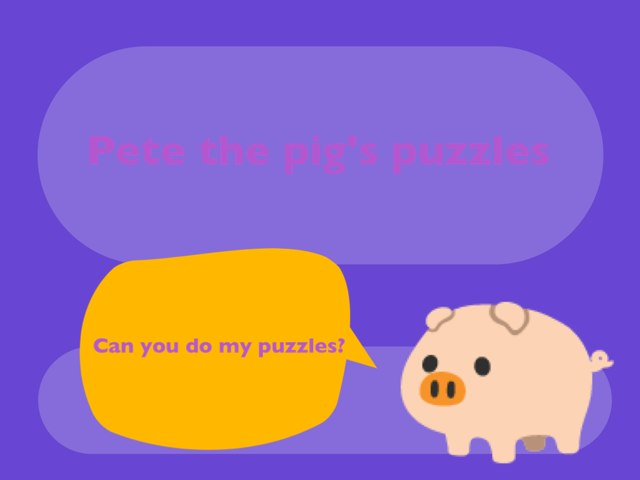Pete The Pig's Puzzles by Luke Fi