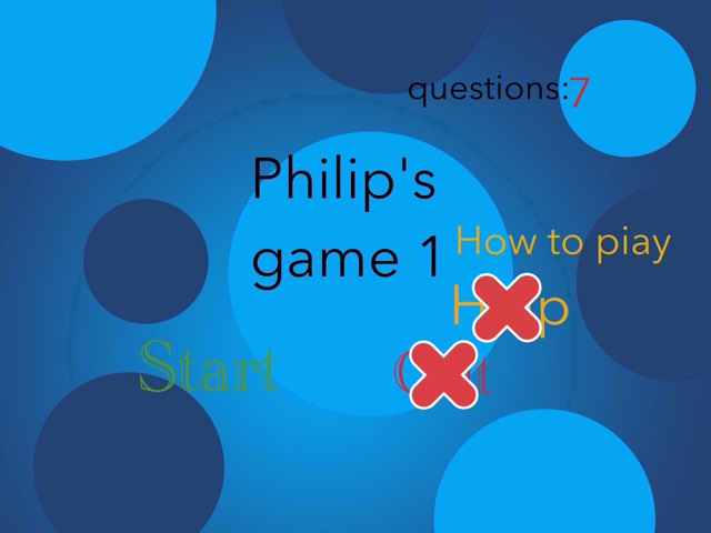 Philip's Game 1 by Philip Sindesen
