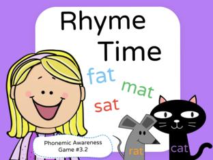 Phonemic Awareness - Rhyming #3.2 by Jennifer Sanders
