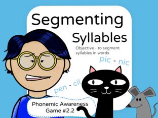 Phonemic Awareness - Segmenting Syllables by Jennifer Sanders