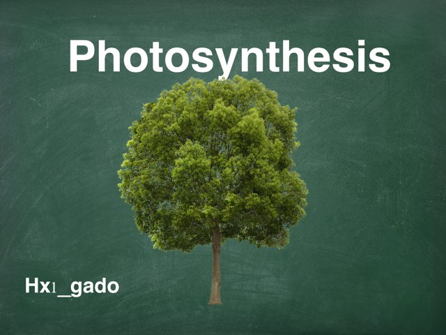 Photosynthesis by hx1 gado