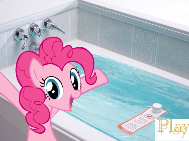 Pinkie Pie And The Bathtub by M3 taylor
