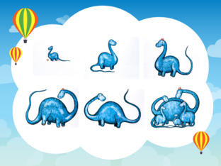 Plus Unit - Cheeky Monkey (baby dino) - practice by Play & Learn English School