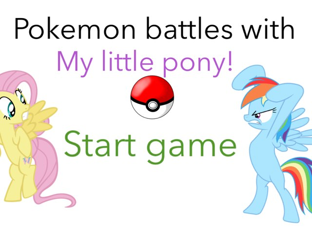 Pokemon Battle With Mlps  by Fluffy Da rabbit