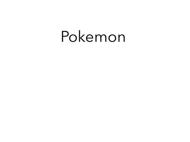 Pokemon Quiz  by Sandford Hill