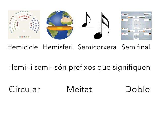Prefixos i sufixos by Olimpia Moya