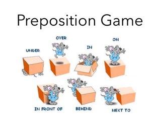 Preposition game by Trine Holm