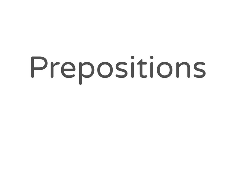 Prepositions Quiz by Katherine Sowders