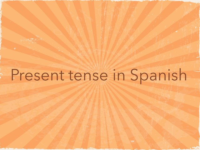 Present Tense Intro by Chelsea Eastep
